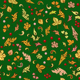 Autumn seamless pattern. Abstract autumn seamless pattern with leaves vector illustration