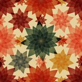 Autumn seamless pattern background. Multicolored abstract vector illustration. Floral Wallpaper Stock Photography