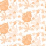 Autumn Seamless Pattern Background bitonale Immagine Stock Libera da Diritti