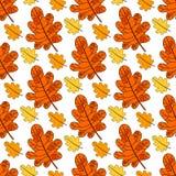 Autumn Seamless Pattern Background Colorful-de Dalingsseizoen van het Bladerenornament Royalty-vrije Stock Foto's