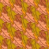 Autumn Seamless Pattern Background Colorful-de Dalingsseizoen van het Bladerenornament Stock Afbeeldingen
