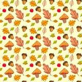Autumn Seamless Pattern Background Colorful deja temporada de otoño del ornamento Fotografía de archivo libre de regalías
