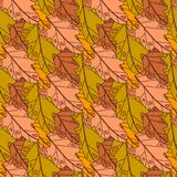 Autumn Seamless Pattern Background Colorful laisse l'automne d'ornement Images stock