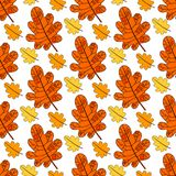Autumn Seamless Pattern Background Colorful lascia la stagione di caduta dell'ornamento illustrazione vettoriale