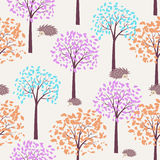 Autumn seamless pattern Stock Image