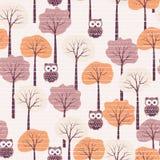 Autumn seamless pattern Stock Photos