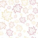 Autumn Seamless Pattern Background Maple laisse l'automne d'ornement Photo stock