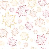 Autumn Seamless Pattern Background Maple lascia la stagione di caduta dell'ornamento Fotografia Stock