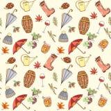 Autumn seamless pattern Royalty Free Stock Photos