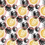 Autumn seamless pattern with circle textures. royalty free illustration