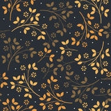 Autumn seamless pattern with colorful  bouquets of flowers Royalty Free Stock Images