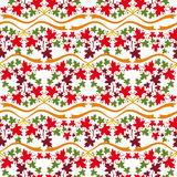 Autumn seamless pattern with colorful maple leaves. Raster clip art Stock Image