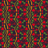 Autumn seamless pattern. With colorful maple leaves. Raster clip art Stock Image