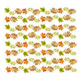 Autumn seamless pattern with dry leaves Royalty Free Stock Photo