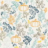 Autumn seamless pattern. Elements design of leaf Stock Photos