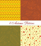 Autumn seamless pattern. Hand drawing vector background. Stock Image
