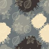 Autumn seamless pattern leaf Royalty Free Stock Photo