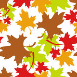 Autumn seamless pattern. Leaf fall. Autumn seamless pattern with colorful maple leaves. Raster clip art Royalty Free Stock Image