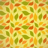 Autumn seamless pattern with leaves Stock Image