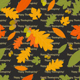Autumn seamless pattern with leaves of different trees Royalty Free Stock Photos