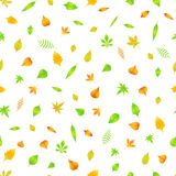 Autumn seamless pattern with leaves  EPS 10.  Royalty Free Stock Photo