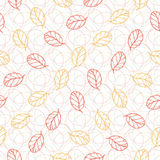 Autumn seamless pattern with leaves. Fashion textile texture or packaging design Stock Photo