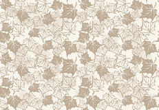 Autumn seamless pattern with leaves of maple Royalty Free Stock Images