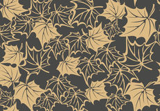 Autumn seamless pattern with leaves of maple Stock Photo