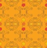 Autumn seamless pattern, ornamental wallpaper, art vector illust Royalty Free Stock Photos
