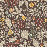 Autumn seamless pattern,Rain,leaves, branches Stock Photos