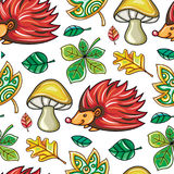 Autumn seamless pattern series royalty free illustration