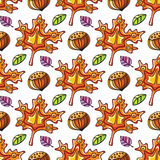 Autumn seamless pattern series Stock Images