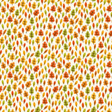 Autumn seamless pattern with small leaves. For textiles, interior design, for book design, website background Royalty Free Stock Photography