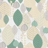 Autumn seamless pattern. Vector autumn seamless pattern with leaves Stock Images