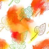 Autumn seamless pattern. Royalty Free Stock Photo