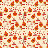 Autumn seamless pattern with wild berries. For textiles, interior design, for book design, website background Stock Photo