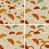 Autumn  Seamless Patterns Stock Image