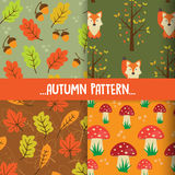 Autumn seamless patterns Royalty Free Stock Images