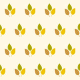 Autumn seamless stylized leaf pattern Stock Photos