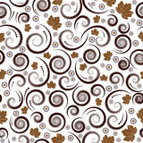 Autumn seamless vector floral Stock Image