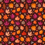 Autumn seamless vector pattern. Fall leaves Royalty Free Stock Photos