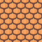 Sweet autumn pumpkin seamless vector pattern royalty free illustration