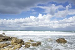 Autumn seaside. Autumn weather on the seaside Royalty Free Stock Image