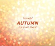 Autumn season abstract background. Vector illustration Royalty Free Stock Photo