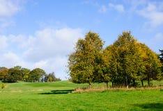 Autumn season. Beautiful autumn day on a golf course Stock Photo
