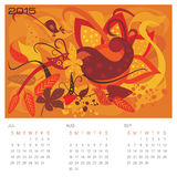 Autumn Season - Concept Calendar Royalty Free Stock Photography