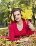 Autumn season cute girl Royalty Free Stock Photography