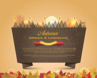 Autumn Season Design Vector Origami Background. Vector banner, you can change this image that it was uploaded also with eps10 file Stock Photos