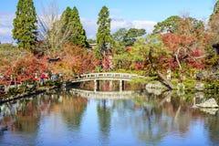 Autumn season at Eikando, Kyoto, Japan. The stone bridge in Eikando Temple, Kyoto, Japan during autumn season Stock Photos