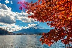 Autumn Season and Fuji mountain at Kawaguchiko lake, Japan Stock Photography